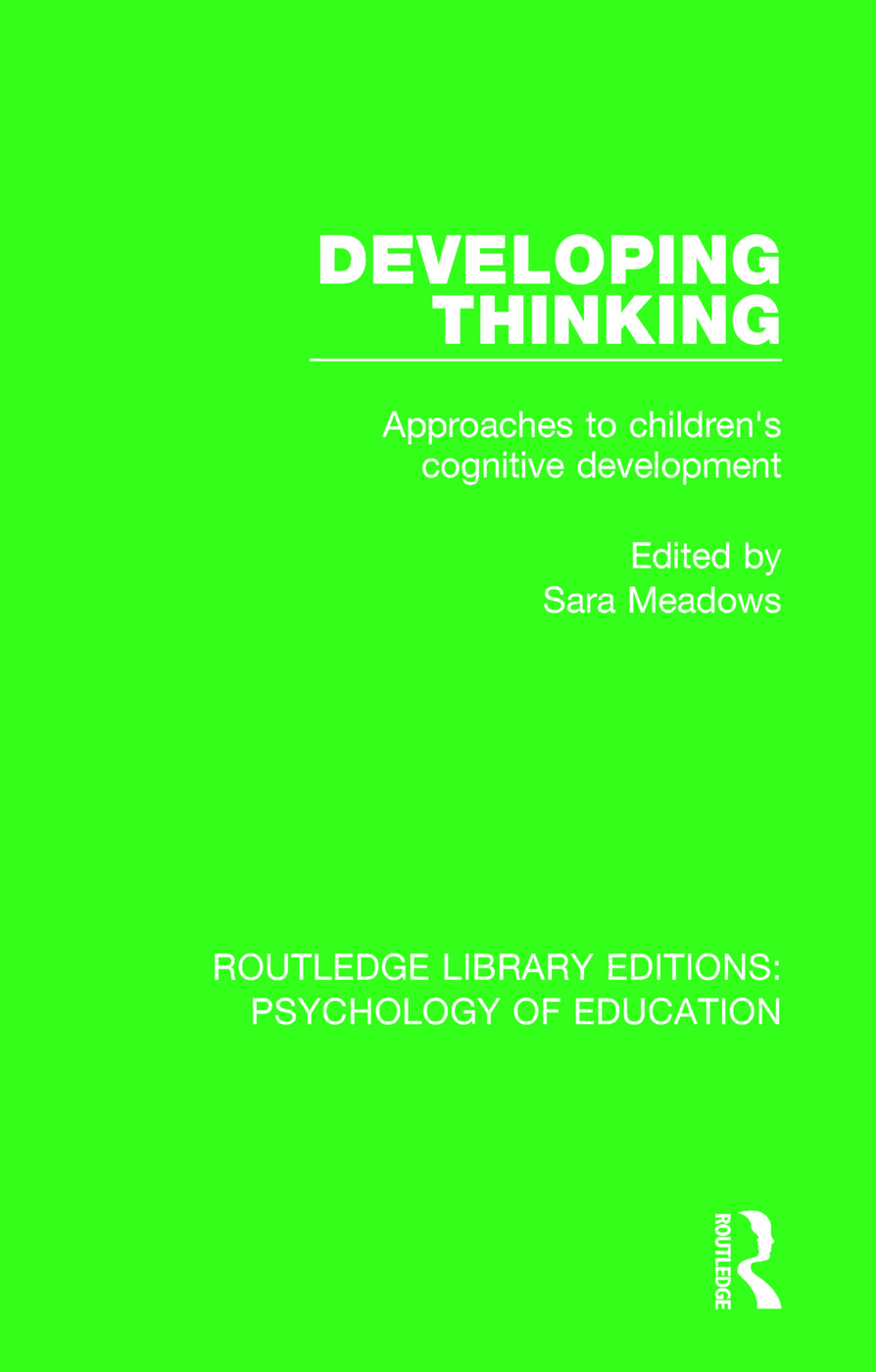 Developing Thinking: Approaches to Children's Cognitive Development, 1st Edition (Paperback) book cover