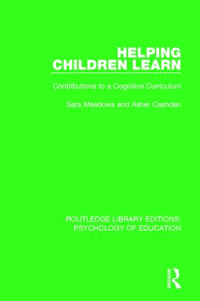 Helping Children Learn: Contributions to a Cognitive Curriculum book cover