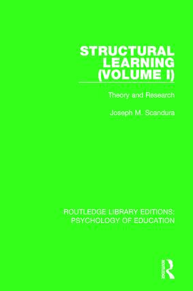 Structural Learning (Volume 1): Theory and Research book cover