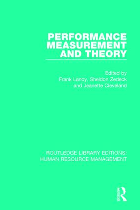 Performance Measurement and Theory book cover