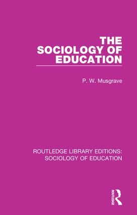 The Sociology of Education book cover