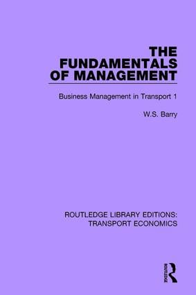 The Fundamentals of Management: Business Management in Transport 1 book cover