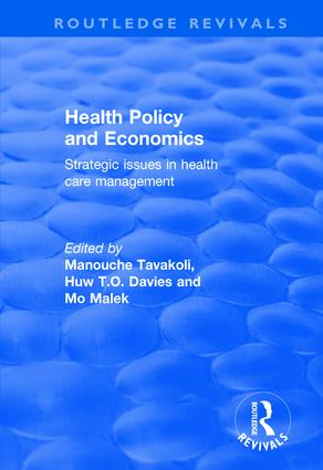 Health Policy and Economics: Strategic Issues in Health Care Management book cover