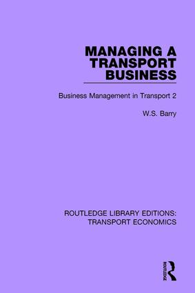 Managing a Transport Business: Business Management in Transport 2 book cover