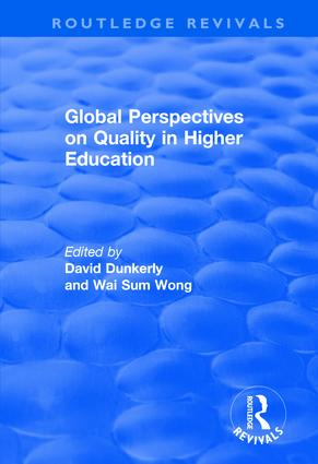 Global Perspectives on Quality in Higher Education: 1st Edition (Paperback) book cover