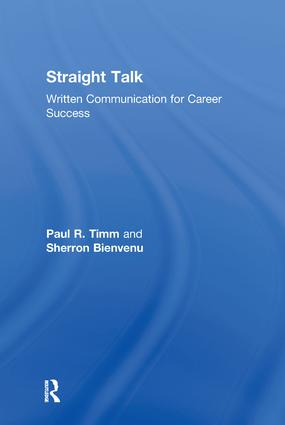 Straight Talk: Written Communication for Career Success, 1st Edition (Hardback) book cover