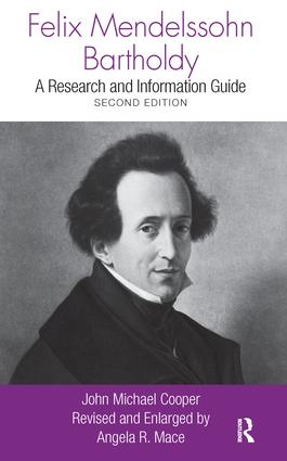Felix Mendelssohn Bartholdy: A Research and Information Guide book cover