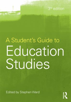 A Student's Guide to Education Studies: 3rd Edition (Paperback) book cover