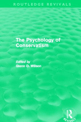 The Psychology of Conservatism (Routledge Revivals): 1st Edition (Paperback) book cover
