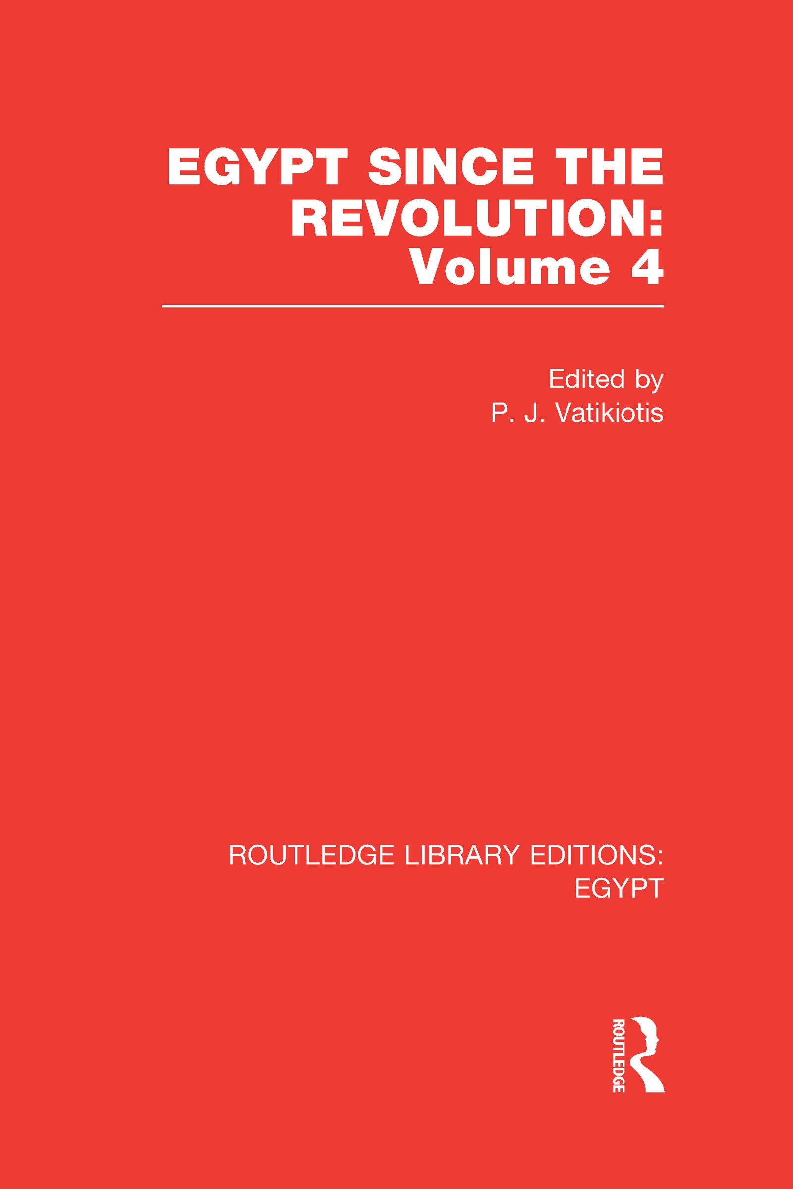 Egypt Since the Revolution (RLE Egypt) (Hardback) book cover