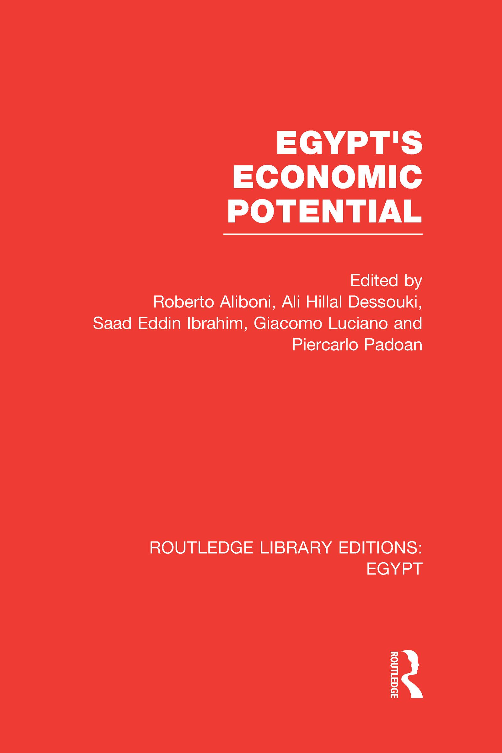 Egypt's Economic Potential (RLE Egypt) (Hardback) book cover