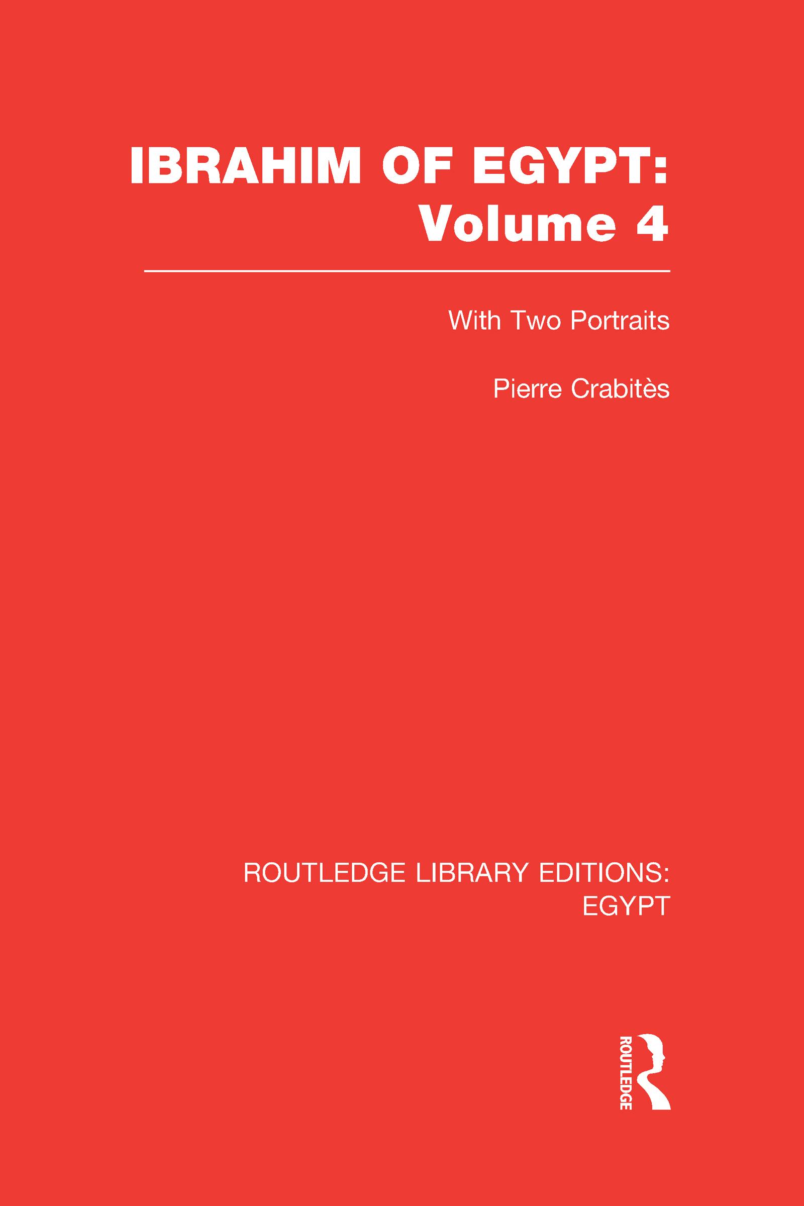 Ibrahim of Egypt (RLE Egypt) (Hardback) book cover