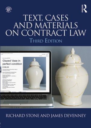 Text, Cases and Materials on Contract Law: 3rd Edition (Paperback) book cover