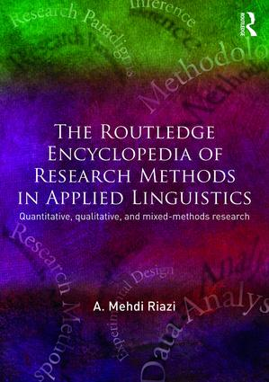 The Routledge Encyclopedia of Research Methods in Applied Linguistics: 1st Edition (Hardback) book cover