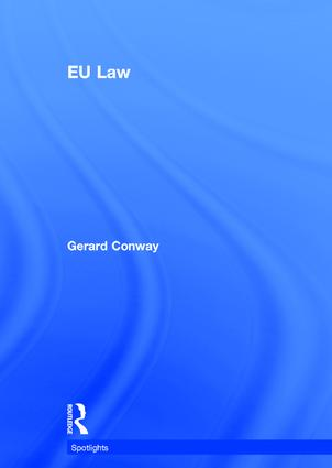 EU Law: 1st Edition (Hardback) book cover