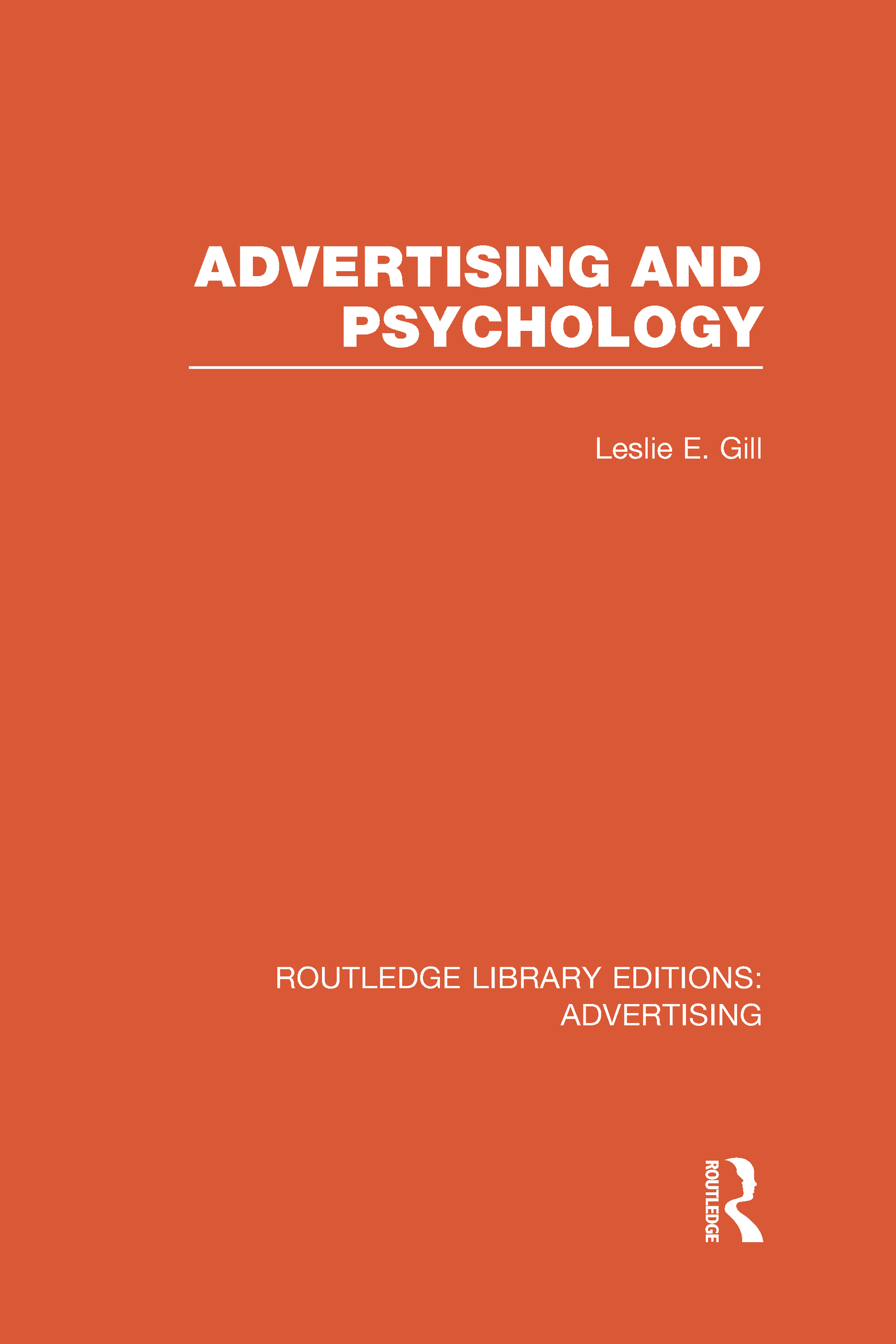 Advertising and Psychology (RLE Advertising) (Hardback) book cover