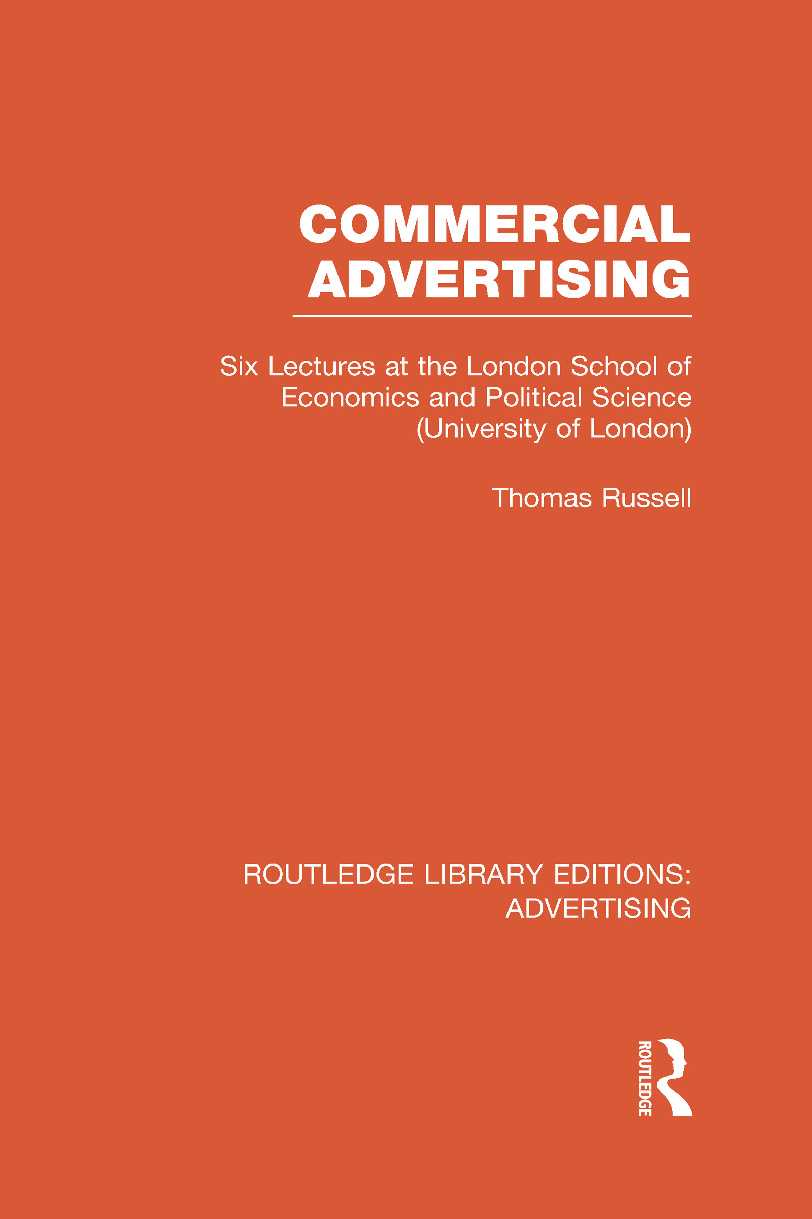Commercial Advertising (RLE Advertising) (Hardback) book cover