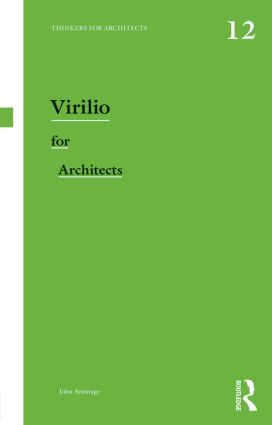 Virilio for Architects (Paperback) book cover