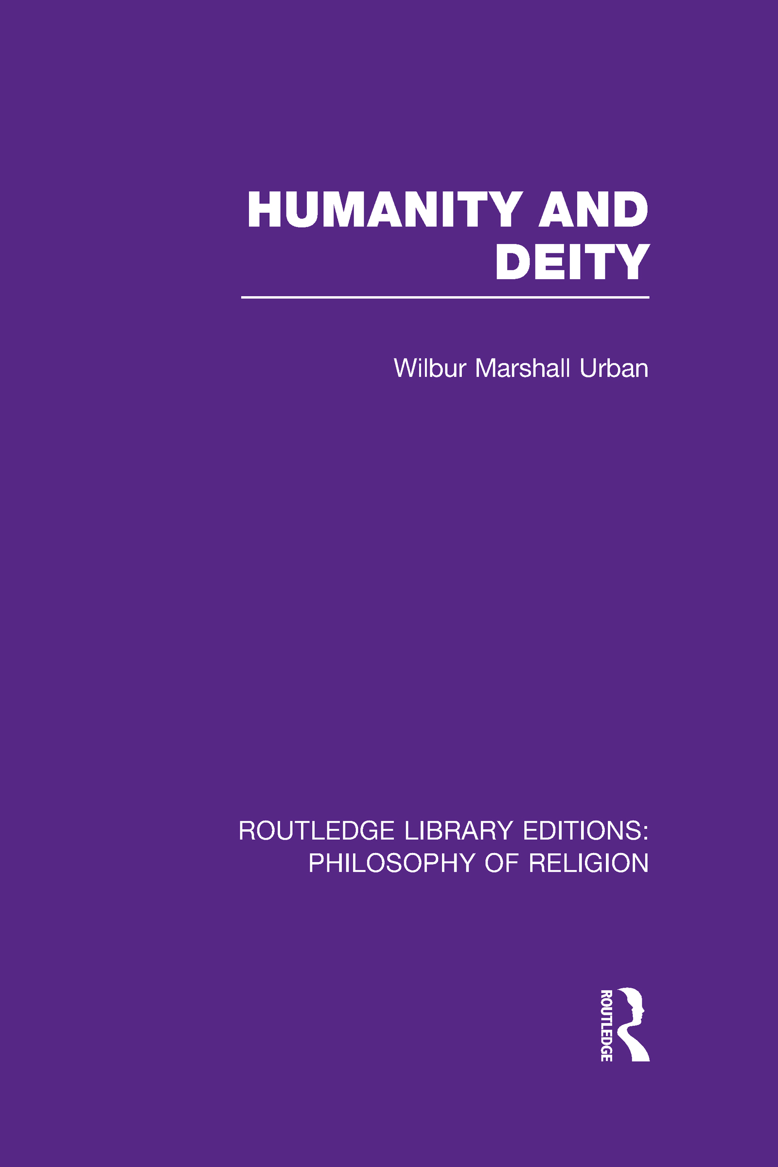 Humanity and Deity (Hardback) book cover