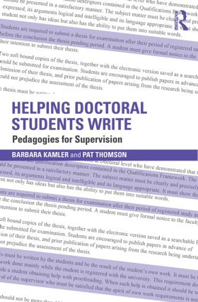 Helping Doctoral Students Write: Pedagogies for supervision, 2nd Edition (Paperback) book cover