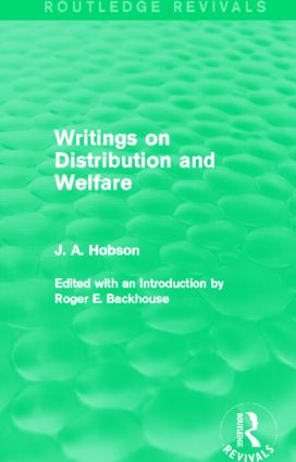 Writings on Distribution and Welfare (Routledge Revivals) (Hardback) book cover