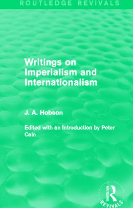 Writings on Imperialism and Internationalism (Routledge Revivals): 1st Edition (e-Book) book cover