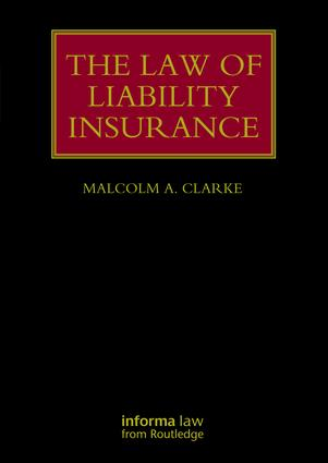 The Law of Liability Insurance book cover