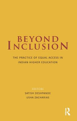 Beyond Inclusion: The Practice of Equal Access in Indian Higher Education (Hardback) book cover