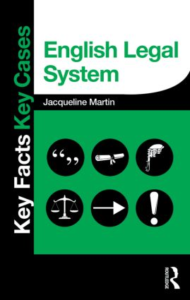 English Legal System: 1st Edition (Paperback) book cover