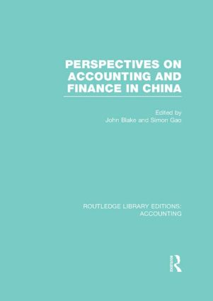 Perspectives on Accounting and Finance in China (RLE Accounting) (Hardback) book cover