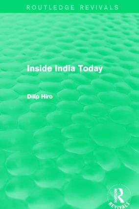 Inside India Today (Routledge Revivals): 1st Edition (Paperback) book cover
