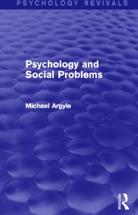 Psychology and Social Problems (Psychology Revivals) (Hardback) book cover