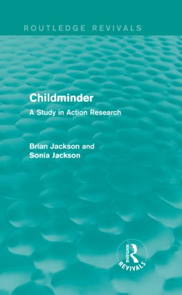 Childminder (Routledge Revivals): A Study in Action Research (Hardback) book cover