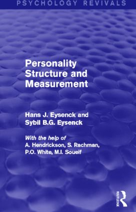Personality Structure and Measurement (Psychology Revivals) (Hardback) book cover