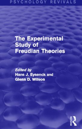 The Experimental Study of Freudian Theories (Psychology Revivals) (Hardback) book cover