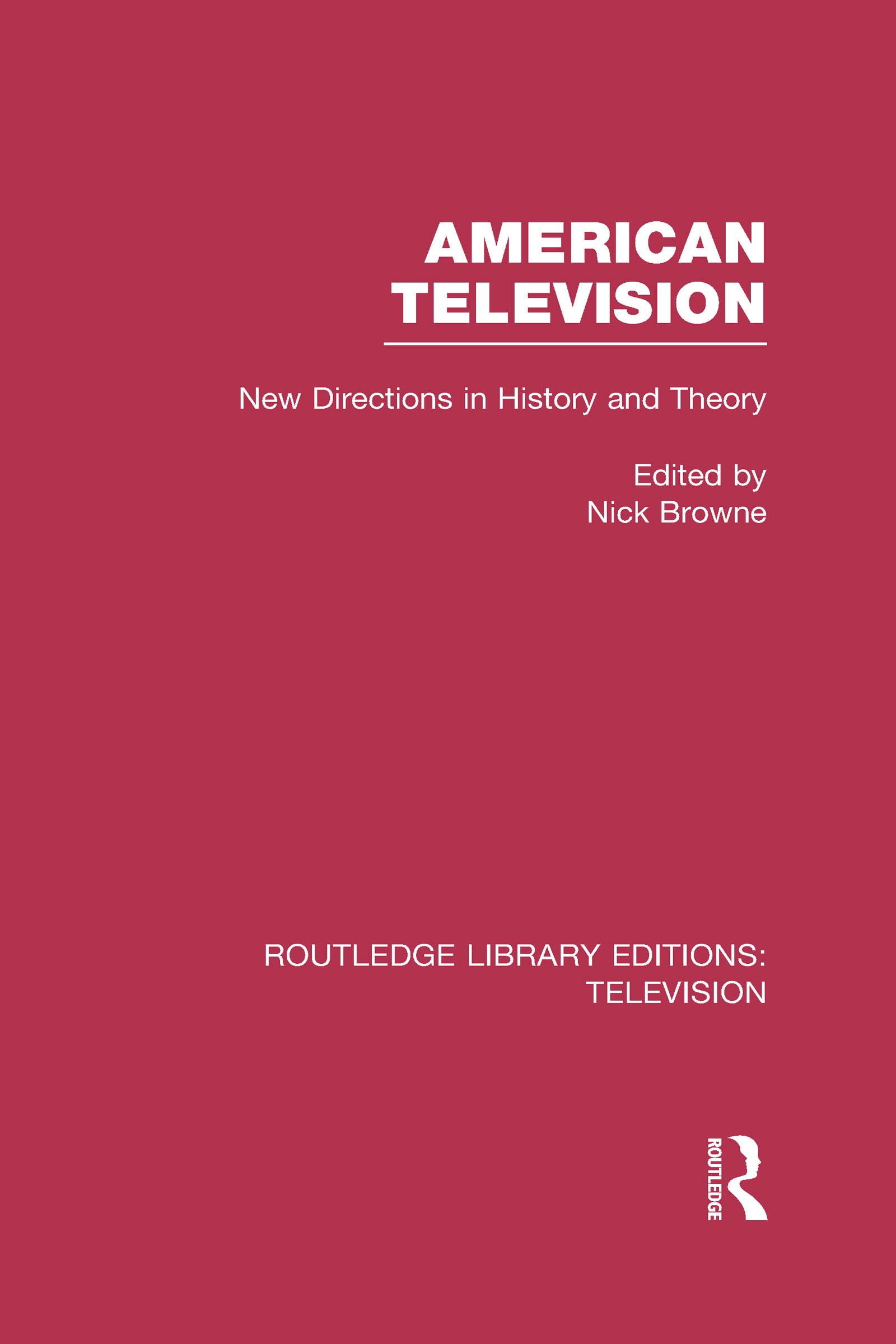 American Television: New Directions in History and Theory book cover