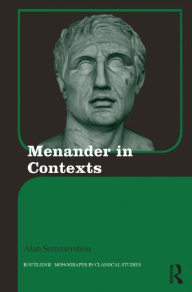 Menander in Contexts (Hardback) book cover