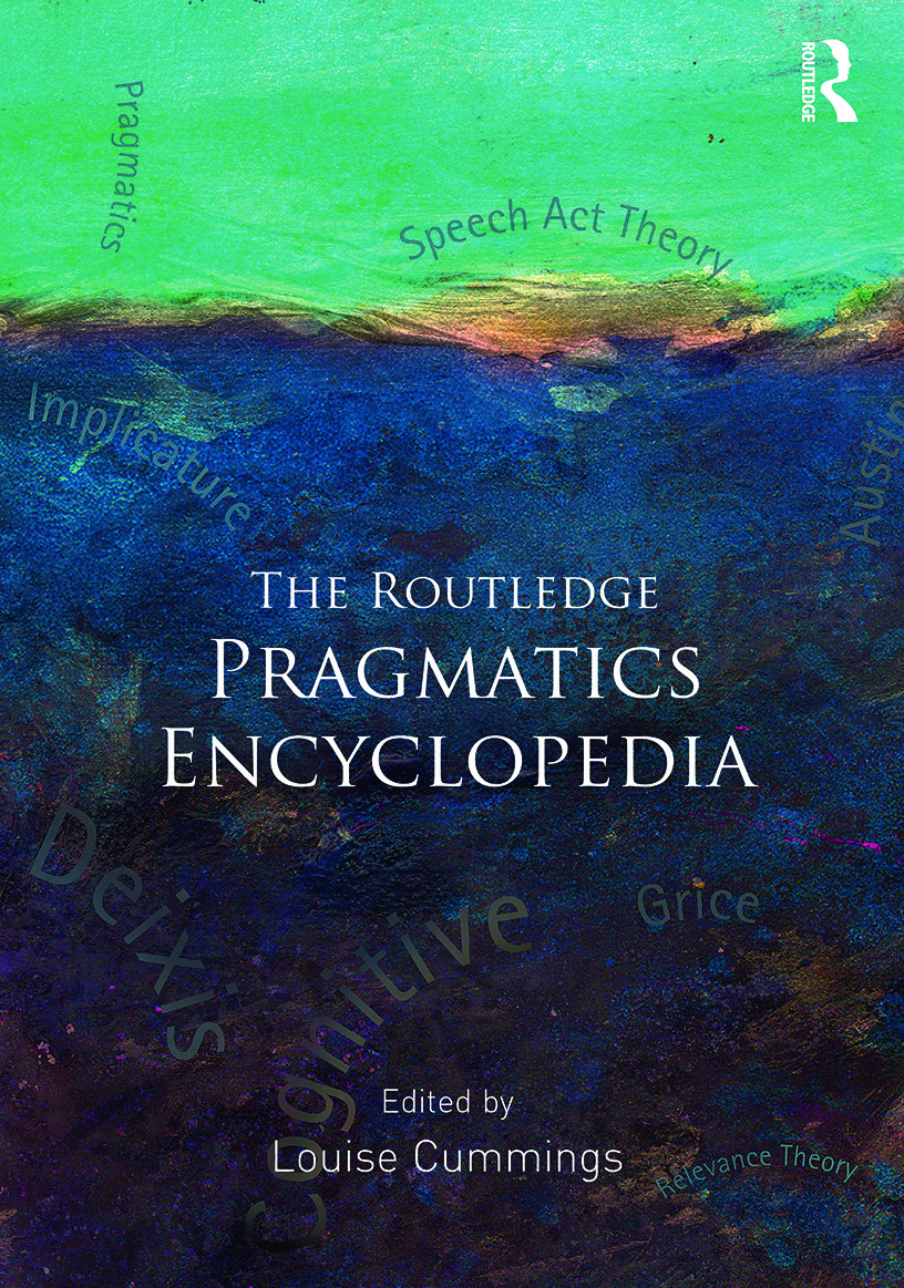 The Routledge Pragmatics Encyclopedia book cover