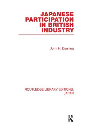 Japanese Participation in British Industry (Paperback) book cover