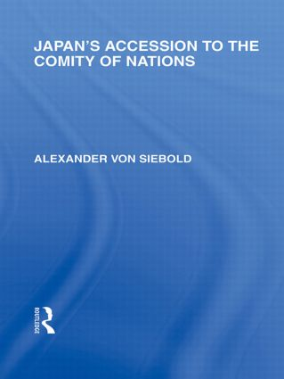 Japan's Accession to the Comity of Nations (Paperback) book cover