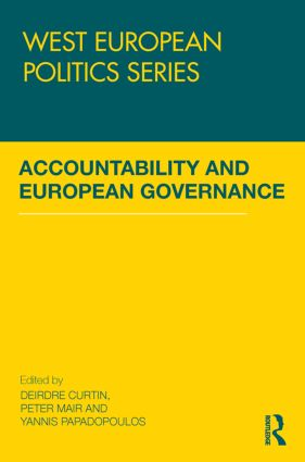 Accountability and European Governance book cover