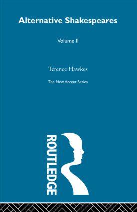 Alternative Shakespeares Vol 2 (Paperback) book cover