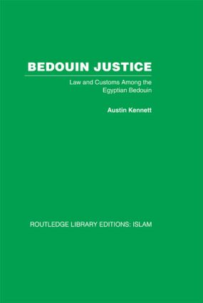 Bedouin Justice: Law and Custom Among the Egyptian Bedouin, 1st Edition (Paperback) book cover