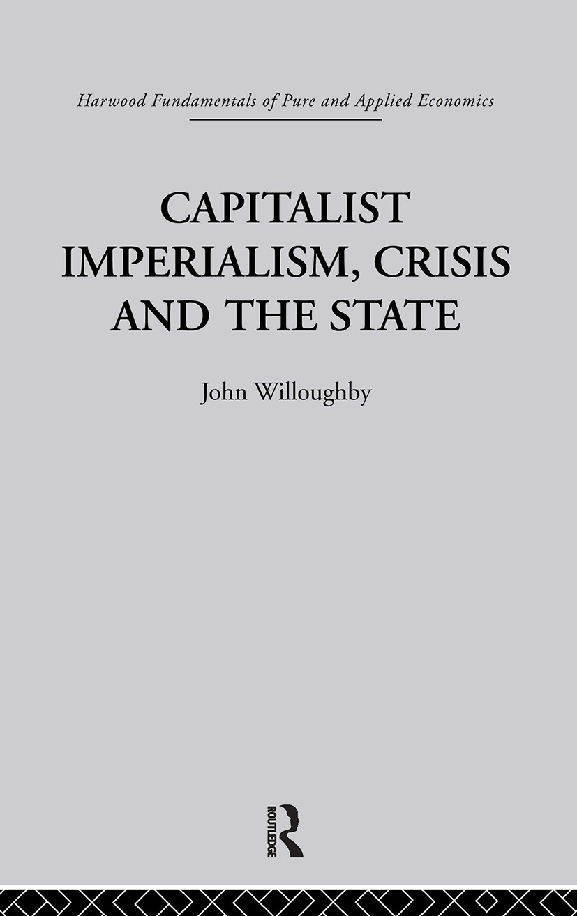 Capitalist Imperialism, Crisis and the State: 1st Edition (Paperback) book cover