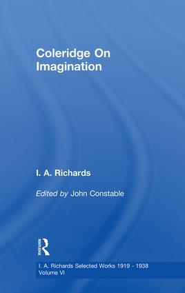 Coleridge On Imagination V 6: 1st Edition (e-Book) book cover