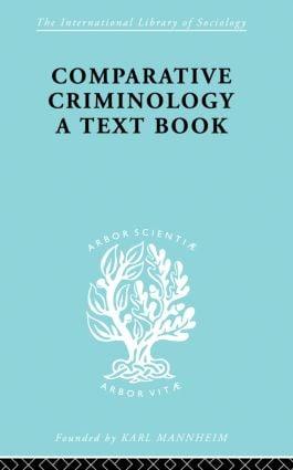 Comparatv Criminol Pt1 Ils 199 (Paperback) book cover