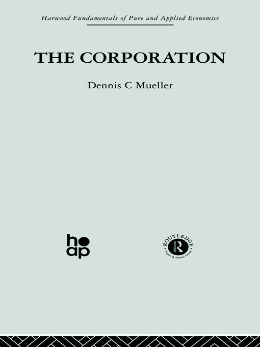 The Corporation: Growth, Diversification and Mergers (Paperback) book cover