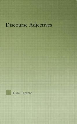Discourse Adjectives: 1st Edition (Paperback) book cover