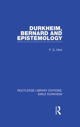 Durkheim, Bernard and Epistemology: 1st Edition (Paperback) book cover