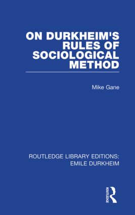 On Durkheim's Rules of Sociological Method (Paperback) book cover